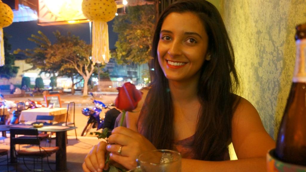 Taz buys me a rose :-)